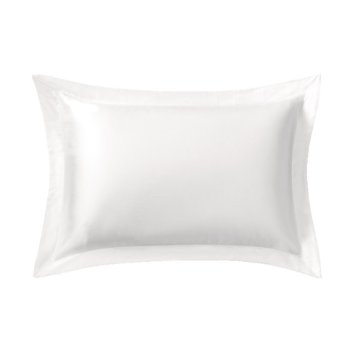 Sheridan Lanham Silk Tailored Snow Standard Pillowcase   My Linen