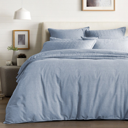 Sheridan Reilly Chambray Super King Quilt Cover Set | My Linen