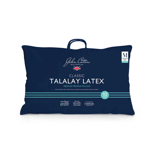 John Cotton Talalay Latex Medium Profile Pillow | My Linen