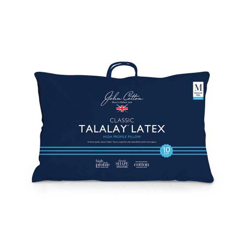 John Cotton Talalay Latex High Profile Pillow   My Linen