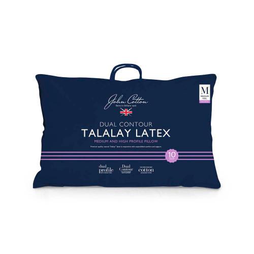 John Cotton Talalay Latex Dual Contour Pillow | My Linen