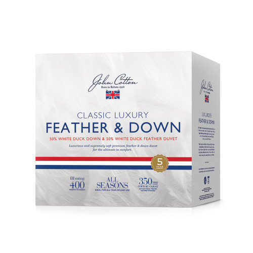 John Cotton Classic Luxury 50/50 Duck Down & Feather Queen Bed Quilt | My Linen