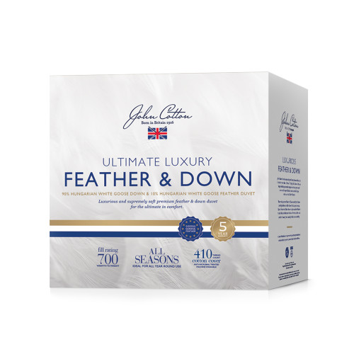 John Cotton Ultimate Luxury Hungarian 90/10 Goose Down & Feather King Bed Quilt | My Linen