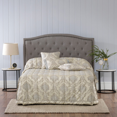 Bianca Dorset Taupe Double Bed Bedspread Set | My Linen