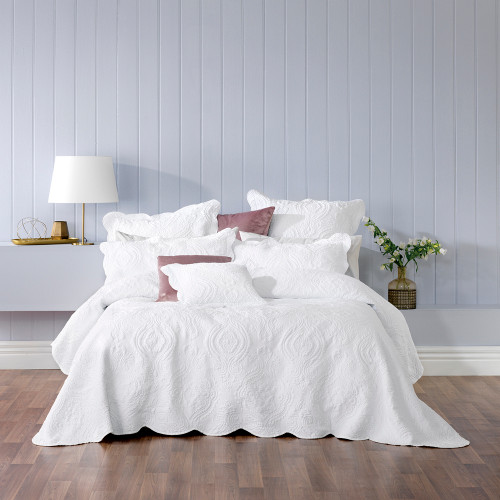 Bianca Cordelia White King Bed Bedspread Set | My Linen