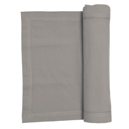 Rans Elegant Hemstitch Table Runner 135cm Grey | My Linen