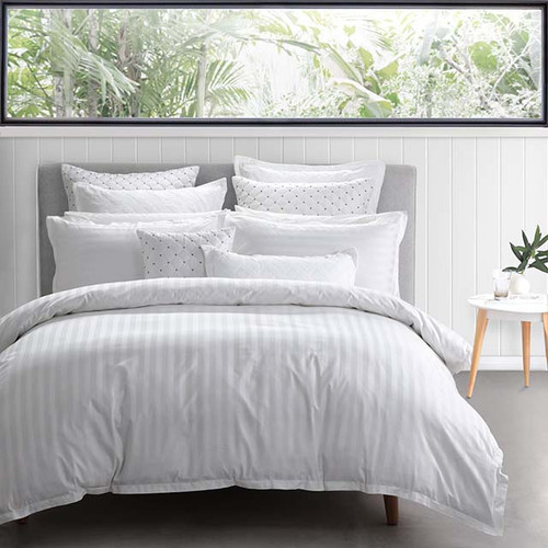 Private Collection Normandy White King Bed Quilt Cover Set | My Linen