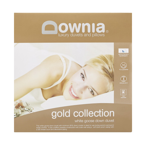 Downia Gold Collection 85/15 Goose Down & Feather Single Bed Quilt   My Linen