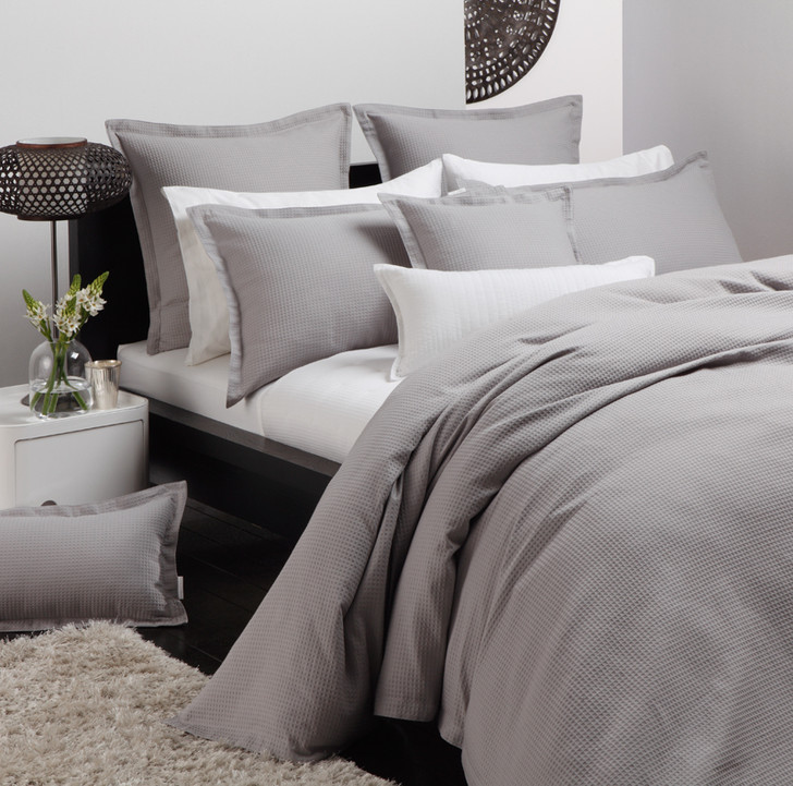 Ascot Pewter Quilt Cover Set