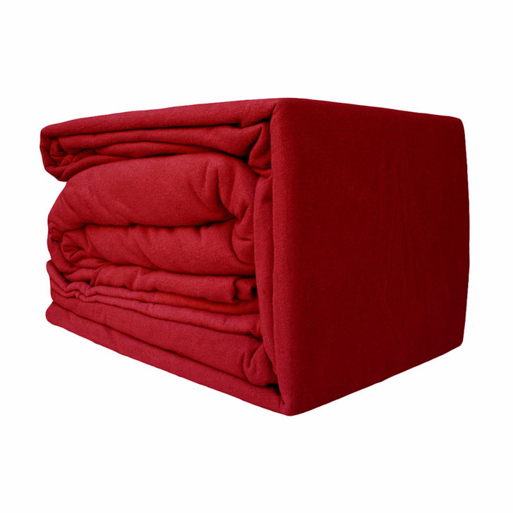 Red Flannelette Sheet Set