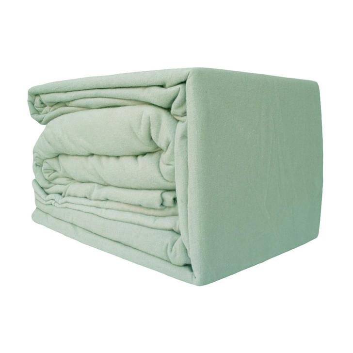 Green Flannelette Sheet Set