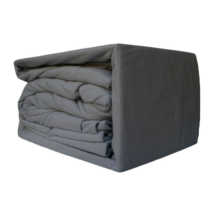 Charcoal Flannelette Sheet Set