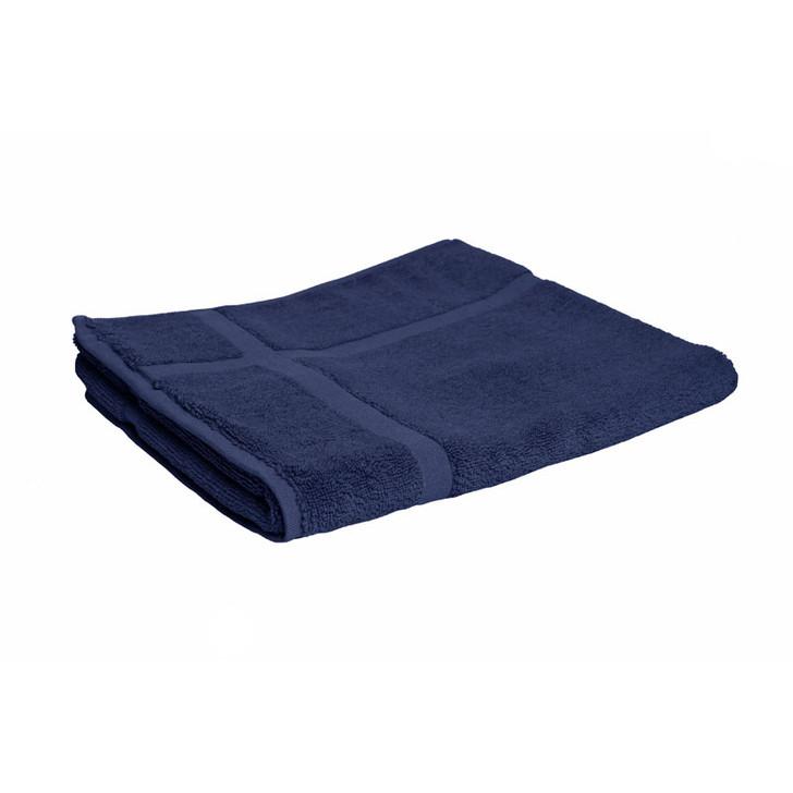 100% Cotton Navy Blue Bath Mat