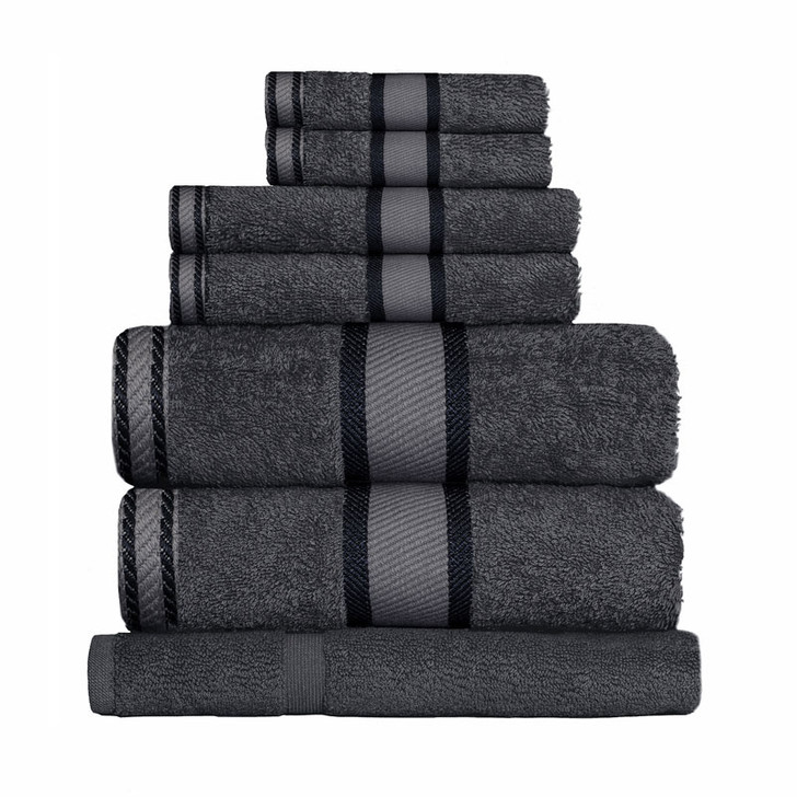 100% Cotton Charcoal Grey 7pc Bath Sheet Set