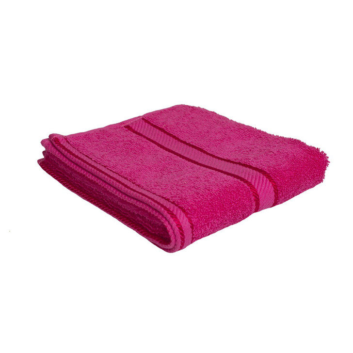 100% Cotton Fuchsia / Hot Pink Hand Towel