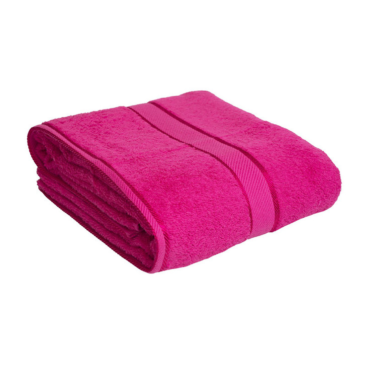 100% Cotton Fuchsia / Hot Pink Bath Sheet