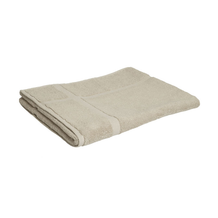 100% Cotton Linen / Latte Coffee Bath Mat