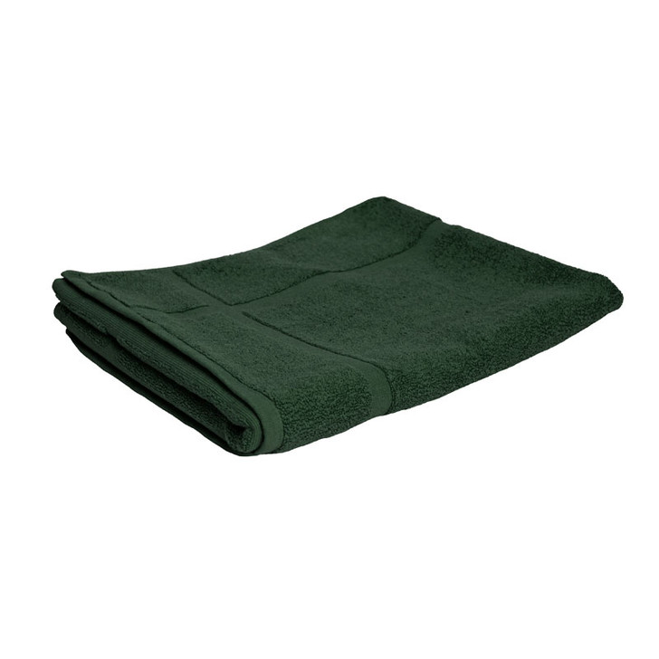 100% Cotton Forest Green Bath Mat