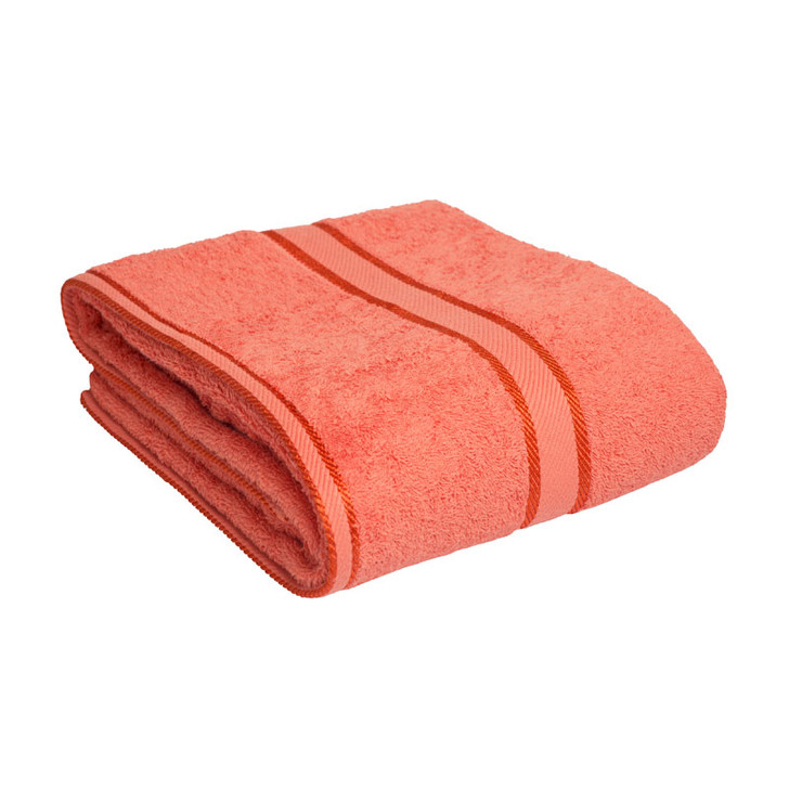 100% Cotton Terracotta / Rust Bath Sheet