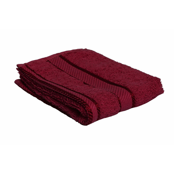 100% Cotton Burgundy Face Washer