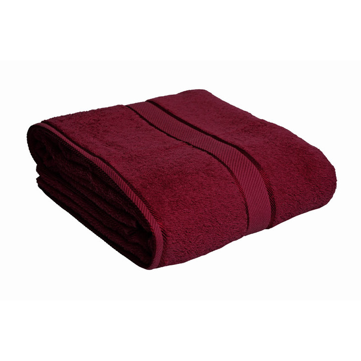100% Cotton Burgundy Bath Sheet