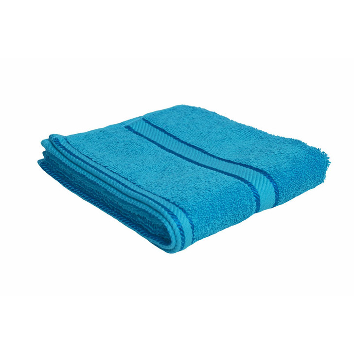 100% Cotton Bright Aqua Hand Towel