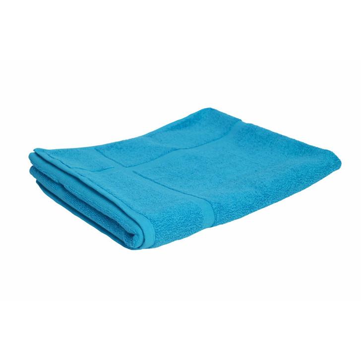 100% Cotton Bright Aqua Bath Mat