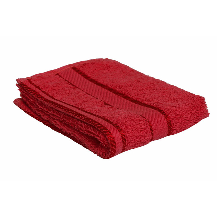 100% Cotton Red Face Washer