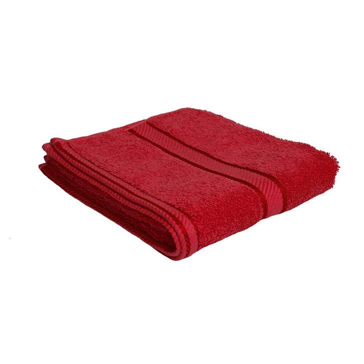100% Cotton Red Hand Towel