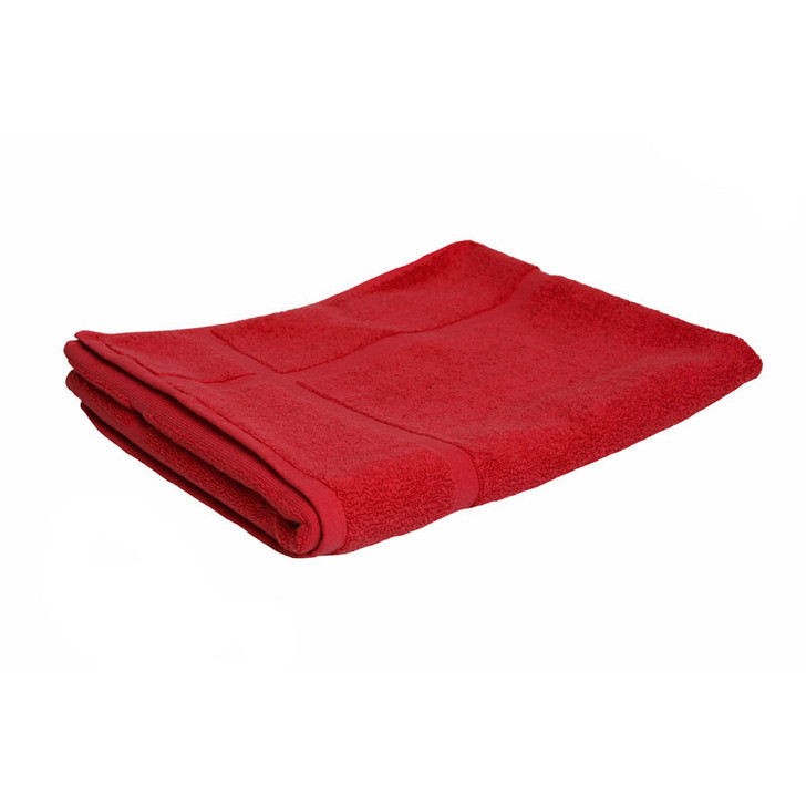 100% Cotton Red Bath Mat