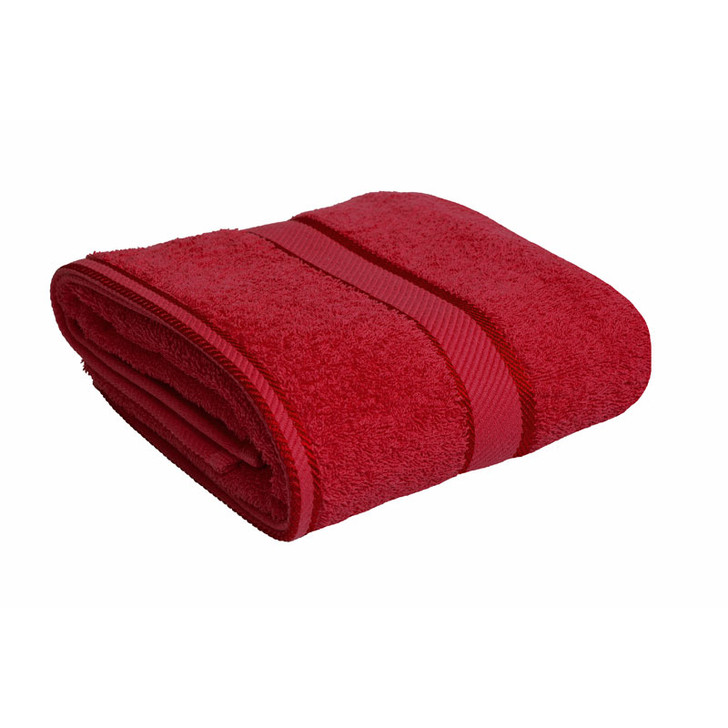 100% Cotton Red Bath Towel
