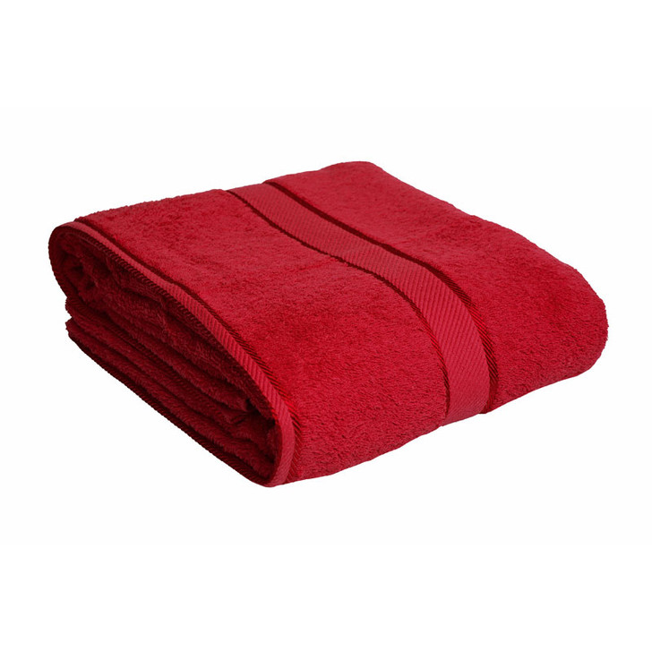 100% Cotton Red Bath Sheet