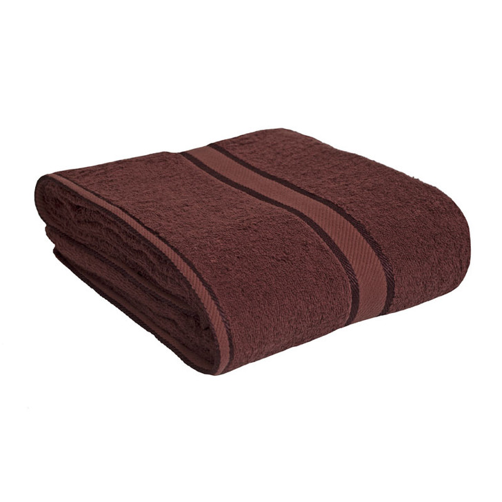 100% Cotton Chocolate Brown Bath Sheet