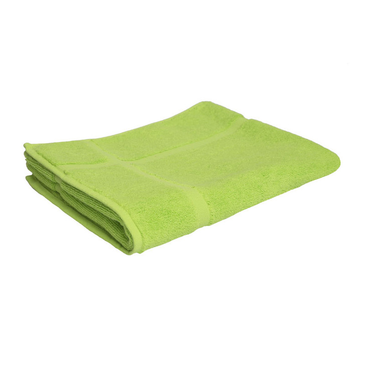 100% Cotton Bright Lime Green Bath Mat