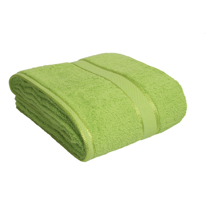 100% Cotton Bright Lime Green Bath Sheet