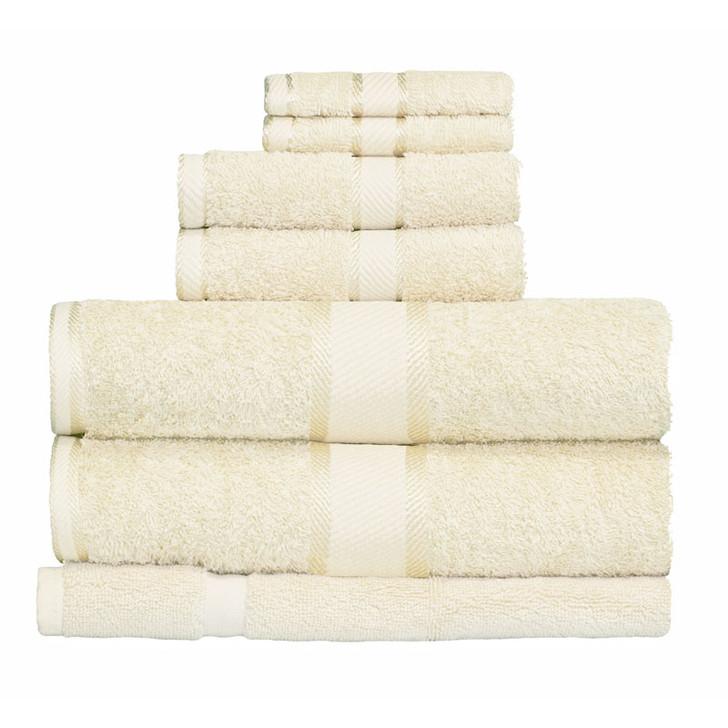 100% Cotton Rose Pink 7pc Bath Towel Set
