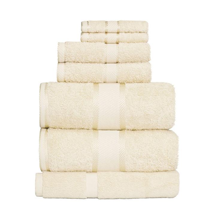 100% Cotton Cream 7pc Bath Sheet Set
