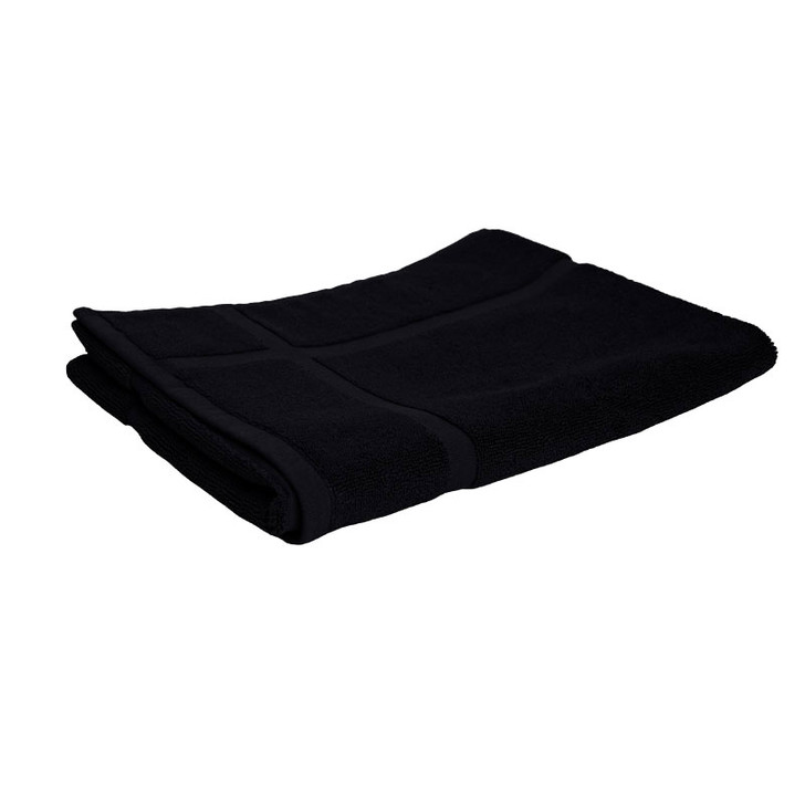 100% Cotton Black Bath Mat