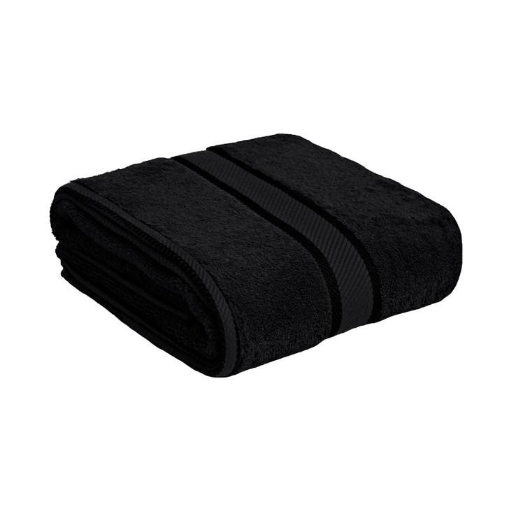 100% Cotton Black Bath Towel