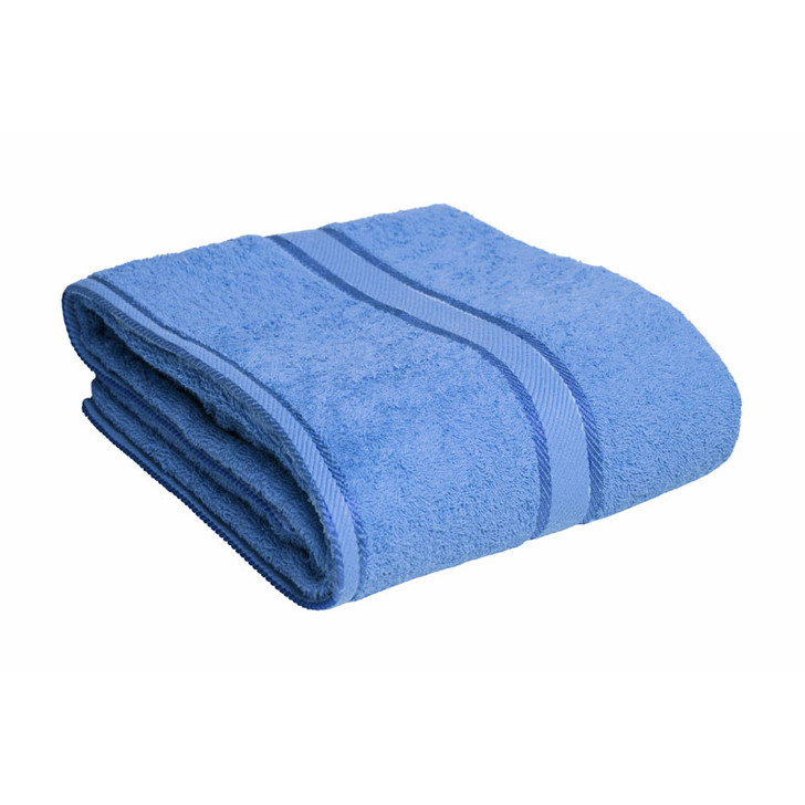 100% Cotton Blue Bath Sheet