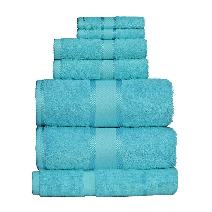 100% Cotton Turquoise 7pc Bath Sheet Set