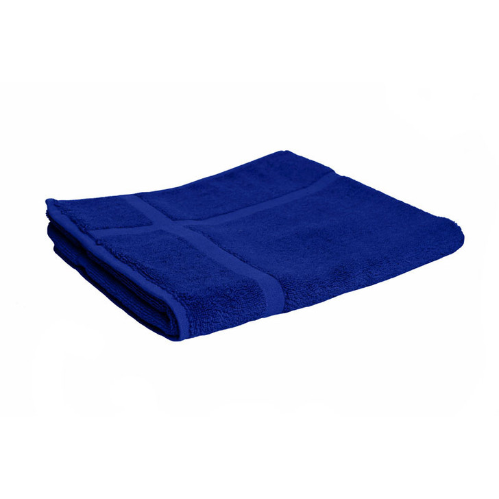 100% Cotton Royal Blue Bath Mat