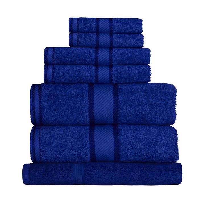 100% Cotton Royal Blue 7pc Bath Sheet Set