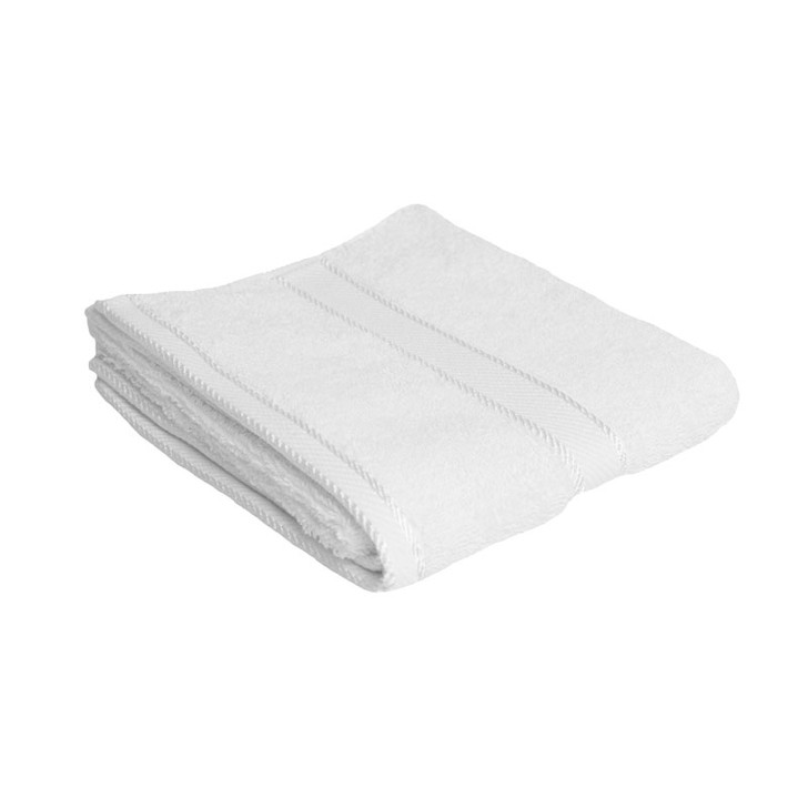 100% Cotton White Hand Towel