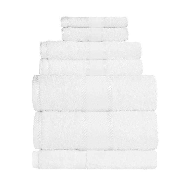 100% Cotton White 7pc Bath Sheet Set