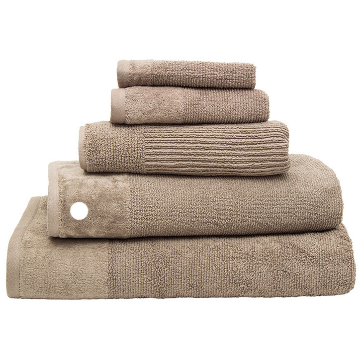 100% Cotton Costa Mocha Ribbed Bath Towel