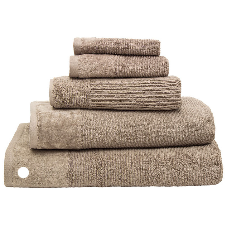 100% Cotton Costa Mocha Ribbed Bath Sheet