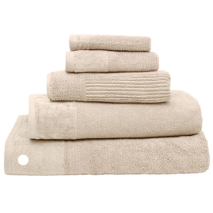 100% Cotton Costa Stone Ribbed Bath Sheet