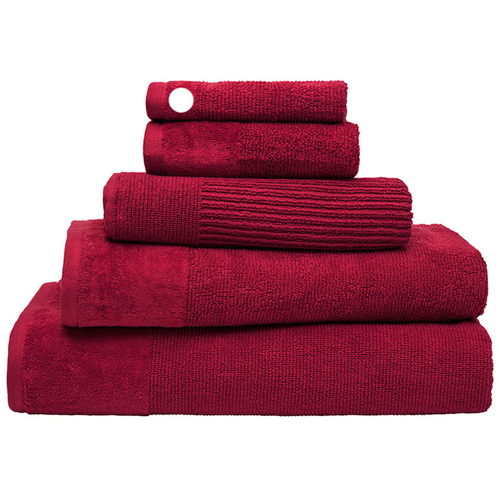 100% Cotton Costa Raspberry Ribbed Face Washer