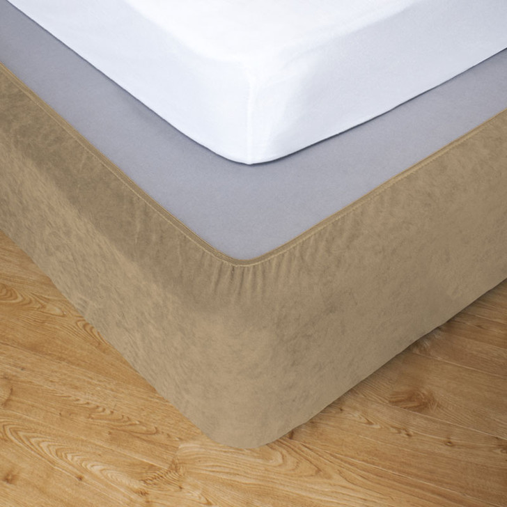 Flax King Single Bed Stretch Bed Wrap Valance